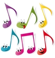 Set of colorful note smileys vector image vector image