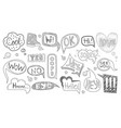 set of hand drawn speech bubbles of various shapes vector image vector image