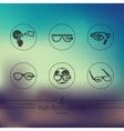 Set of high-tech glasses icons vector image vector image