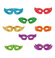 set of mardi gras masks vector image vector image