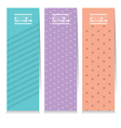 Set Of Three Clean Graphic Vertical Banners vector image vector image