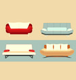 set sofas vector image