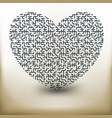 simple labyrinth heart vector image