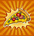 slice of pizza pop art vector image