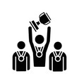 sports team black glyph icon vector image