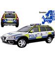 sweden police car vector image vector image