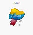 Travel around the world Ecuador Watercolor map vector image vector image