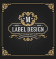 vintage luxury monogram banner template design vector image