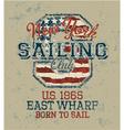 Vintage sailing club vector image