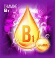 vitamin b1 thiamine vitamin gold oil drop vector image