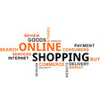word cloud - online shopping vector image vector image