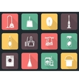 Cleaning flat icon set vector image