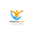 template logo for children care vector image