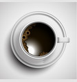 a realistic cup of coffee vector image vector image