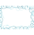 Abstract frame with blue scribbles vector image