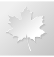 Abstract paper maple leaf vector image vector image