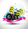 artistic stylish music speaker vector image