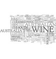 australian wines text word cloud concept vector image vector image