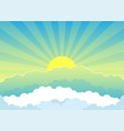 beautiful sunrise and clouds vector image vector image