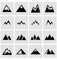black mountains icon set vector image vector image
