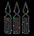 bright mesh carcass ampoules with light spots vector image vector image
