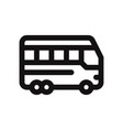 bus icon auto bustransport symbol vector image vector image