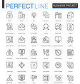 business project thin line web icons set strategy vector image vector image