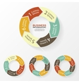 Circle arrows infographic diagram steps vector image vector image