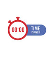 clock with message time is over symbol vector image