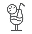 cocktail line icon alcohol and beverage drink vector image