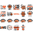 collection basketball phrases slogans vector image