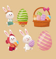 collection easter season decoration vector image
