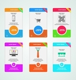 Colored banners for e-Marketing vector image vector image
