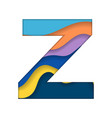 colorful letter z vector image vector image