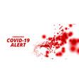 coronavirus covid19-19 pandemic outbreak alert vector image vector image