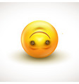 cute upside down face emoticon emoji vector image