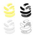 design banana and food symbol set