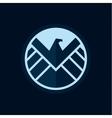 Eagle logo emblem flat style vector image vector image