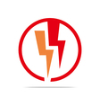 electricity power icon design symbol abstract vector image vector image