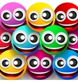 Emoticons colorful smile vector image vector image
