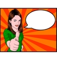 Girl Giving Thumbs Up vector image vector image