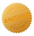gold angara award stamp vector image vector image