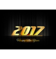 Gold New Year 2017 Luxury Symbol vector image