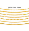 golden chains brushes vector image vector image