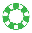 green casino poker chip vector image