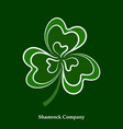 green leaf shamrock icon happy patrick day vector image