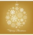 Hanging christmas ball from white snowflakes vector image vector image