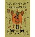 Happy halloween postcard invitation vector image