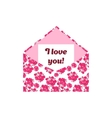 I love you letter in the pink envelope vector image vector image