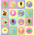 ice cream flat icons 20 vector image vector image